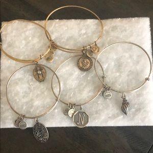 Alex and Ani set of 5 bracelets